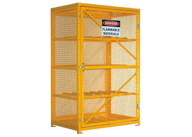 "Chiny 46 ""Wide 12 Cylinder Storage Cabinet Propane Tank Cage Steel Top And Bottom fabryka"