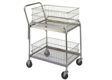 "Chiny 33 ""LX 20"" WX 37-1 / 2 ""Rolling Mail Cart 200 Lb Load Capacity Removable Kosze fabryka"